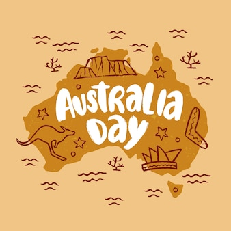 Hand getekend australië dag