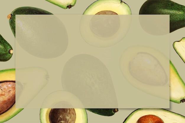 Hand getekend avocado frame met kopie ruimte