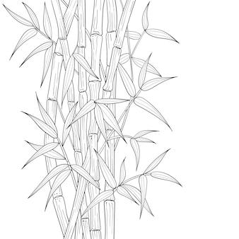 Hand getekend bamboe illustratie.
