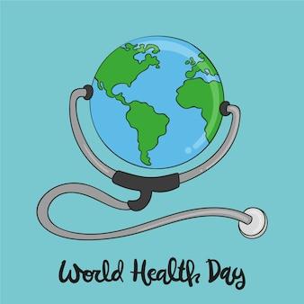 Hand getekend behang wereld gezondheid dag
