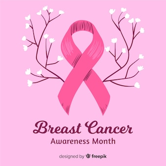 Hand getekend borst kanker bewustzijn maand