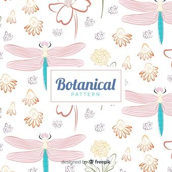 Hand getekend botanische achtergrond