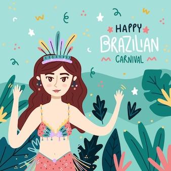 Hand getekend braziliaans carnaval