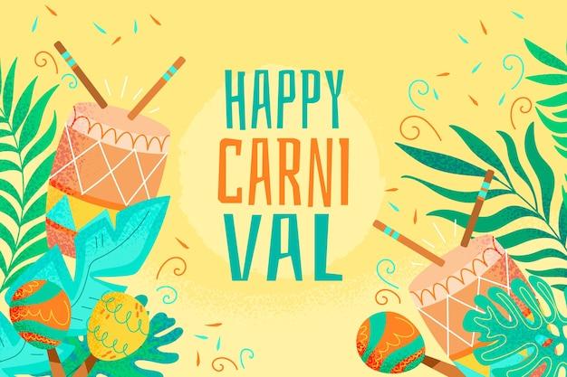 Hand getekend braziliaanse carnaval