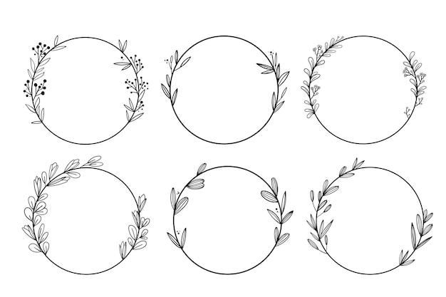Hand getekend bruiloft ornamenten collectie