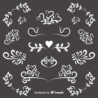 Hand getekend bruiloft sieraad collectie