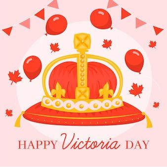 Hand getekend canadese victoria dag illustratie
