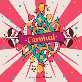 Hand getekend carnaval achtergrond