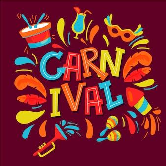 Hand getekend carnaval