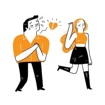 Hand getekend cartoon afbeelding