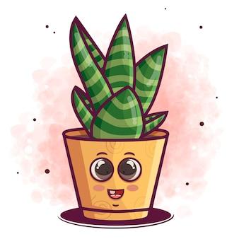 Hand getekend cartoon plant illustratie