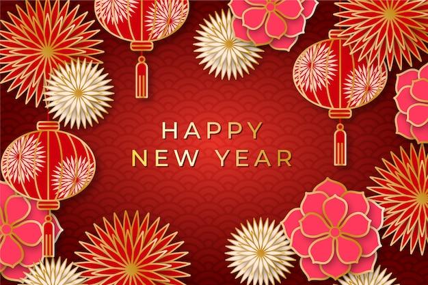Hand getekend chinees nieuwjaar