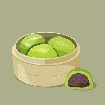 Hand getekend ching ming dumplings illustratie