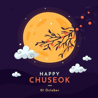 Hand getekend chuseok concept