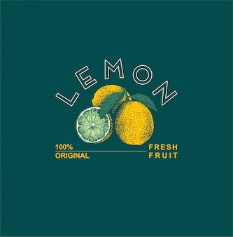 Hand getekend citroen collectie
