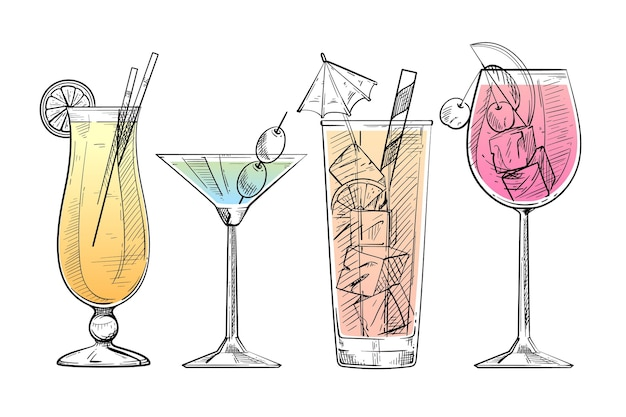 Hand getekend cocktail collectie