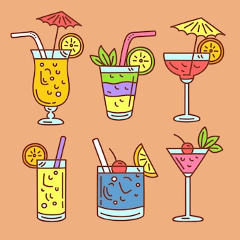 Hand getekend cocktail collectie