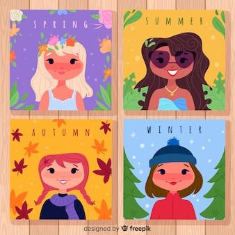 Hand getekend collectie seizoensgebonden posters