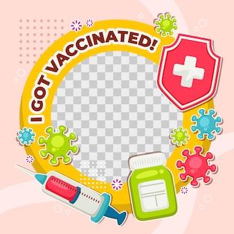 Hand getekend coronavirus facebook frame
