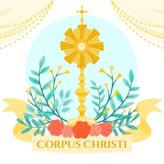 Hand getekend corpus christi illustratie