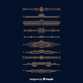 Hand getekend decoratieve divider collectio