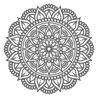 Hand getekend decoratieve mandala in cirkelvormige stijl