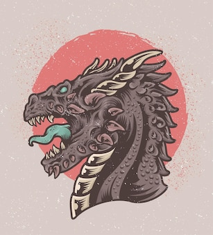 Hand getekend dragon monster