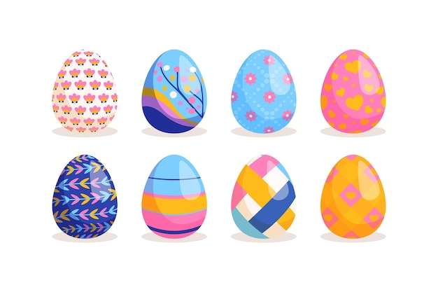Hand getekend easter egg-collectie