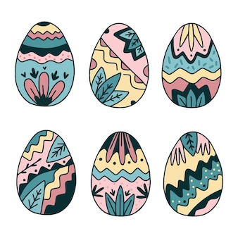 Hand getekend easter egg-collectie