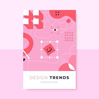 Hand getekend eenkleurig ontwerp blogpost