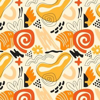 Hand getekend element patroon