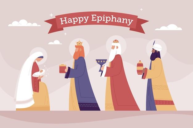 Hand getekend epiphany dag