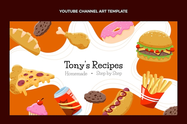 Hand getekend fastfood youtube-kanaal