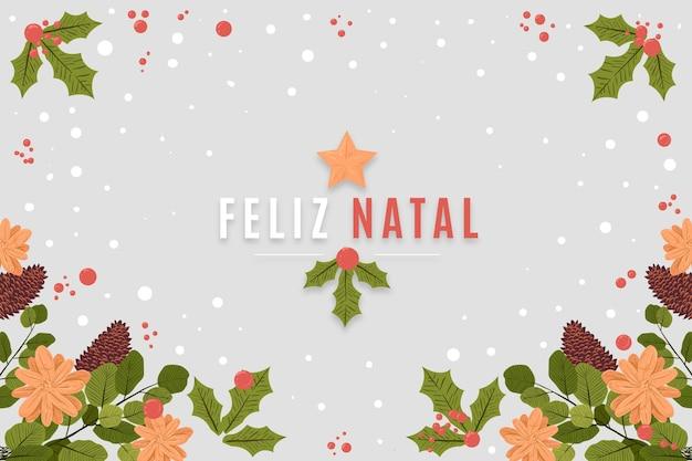 Hand getekend feliz natal