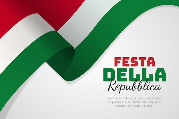 Hand getekend festa della repubblica illustratie