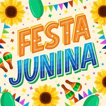 Hand getekend festa junina belettering