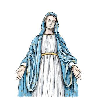 Hand getekend fiesta de la virgen