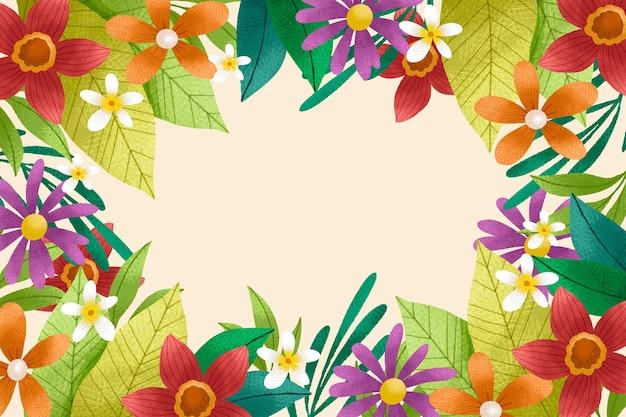 Hand getekend floral achtergrond met korrel textuur