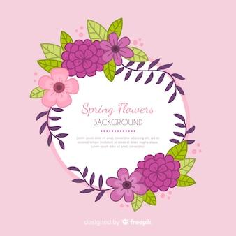Hand getekend floral achtergrond