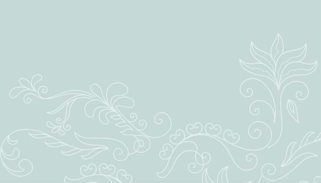 Hand getekend floral achtergrondontwerp