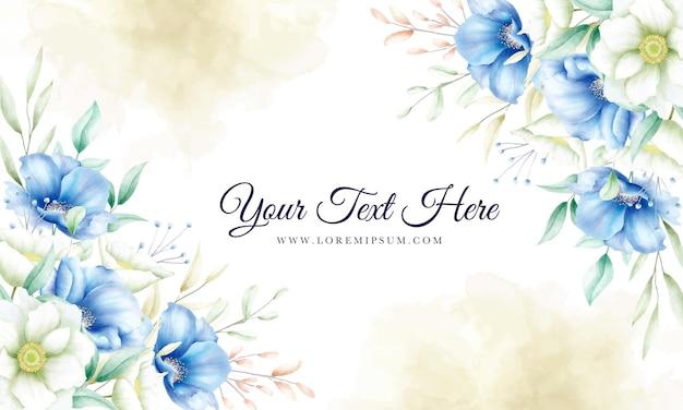 Hand getekend floral sierlijke achtergrond