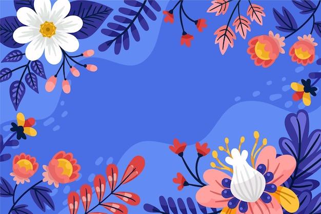Hand getekend floral voorjaar achtergrond