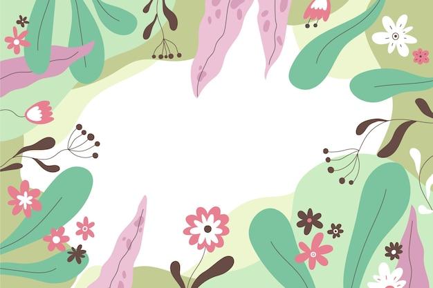 Hand getekend florale achtergrond