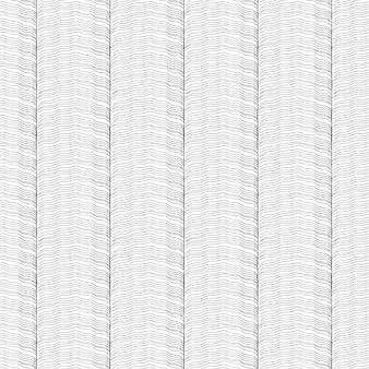 Hand getekend golven naadloos patroon
