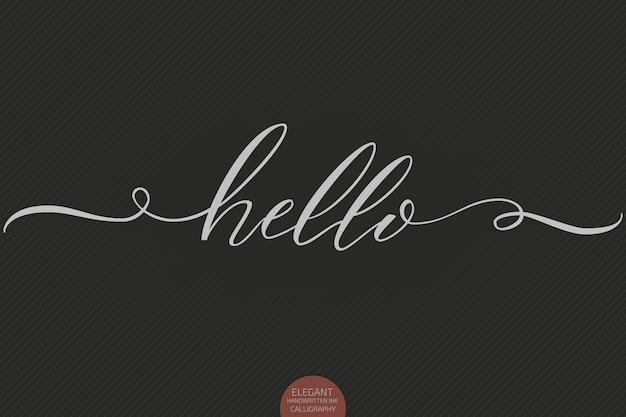 Hand getekend hallo belettering