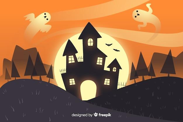Hand getekend halloween achtergrond