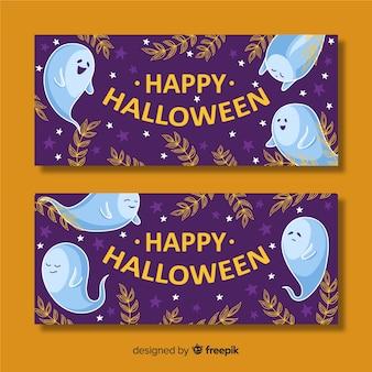 Hand getekend halloween banners