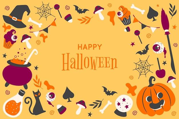 Hand getekend halloween behang