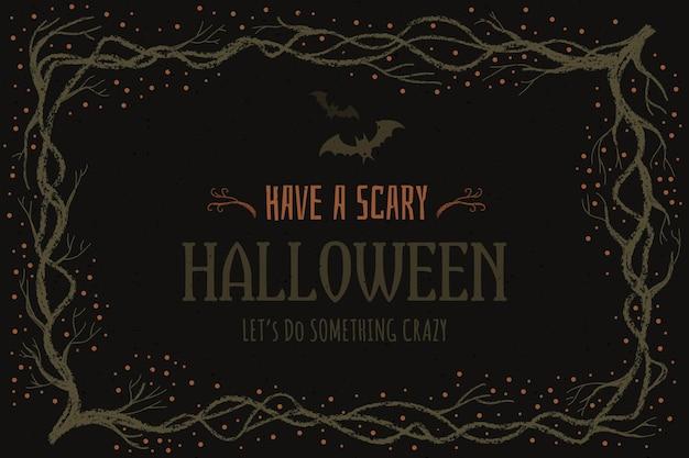 Hand getekend halloween frame