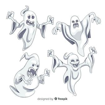 Hand getekend halloween ghost collection